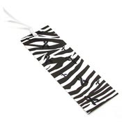 Handmade Zebra Awareness Ribbon Bookmark