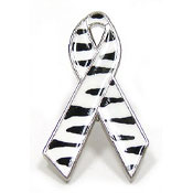 Custom Zebra Awareness Ribbon Pin