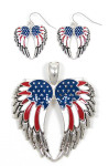American Angel Wings Earring or Pendant Set