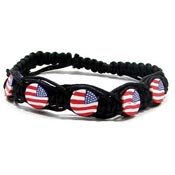 Adjustable Patriotic Macrame Bracelet
