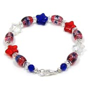 Patriotic Beaded Star Bracelet
