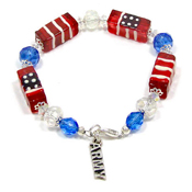 Branch Of Service Patriotic Bracelet