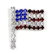 Austrian Crystal Flag Pin