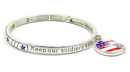 Stackable Keep Our Soldiers Safe Bracelet