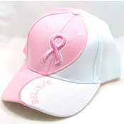 Pink Ribbon Believe Hat