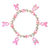 Faith Hope And Love Pink Charm Bracelet