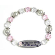 Pink Present And Future Survivor Bracelet