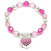 Pink My Hearts Wish Locket Bracelet