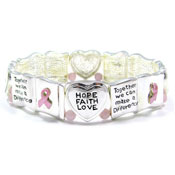 Pink Ribbon Books Of Love Bracelet