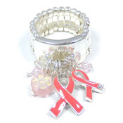 Pink Ribbon Cha Cha Ring