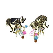 Claudette And Algie Two Cat Pin Set By Lunch At The Ritz LATR