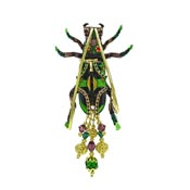 Chinese Tiger Beetle Pin Pendant By Lunch At The Ritz LATR