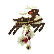 Rudolph Reindeer Pin Pendant By Lunch At The Ritz LATR