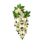 Sweet Spring Flower Pin Pendant By Lunch At The Ritz LATR