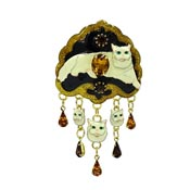 Persian Cat Pin Pendant By Lunch At The Ritz LATR