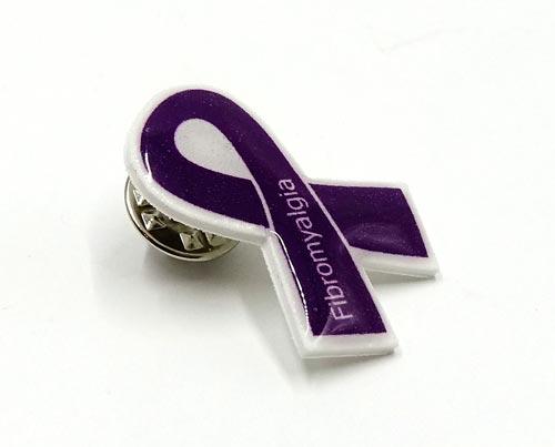 Purple Fibromyalgia Awareness Ribbon Pin