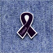 Purple Lupus Awareness Ribbon Pin