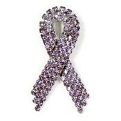 Super Sparkly Lavender Ribbon Pin