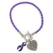 Purple Hope Bracelet