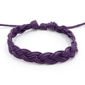 Purple Awareness Braided Friendship Bracelet