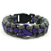 Purple Ribbon Paracord Bracelet