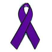 Purple Awareness Ribbon Tie Tack Pin
