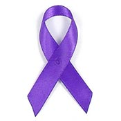 Purple Satin Awareness Ribbon Pin
