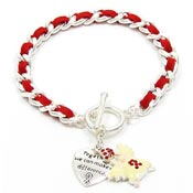 Red Angel Make A Difference Bracelet
