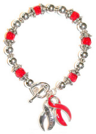 Red Promise Of A Cure Toggle Bracelet