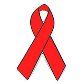 Red Awareness Ribbon Tie Tack Pin