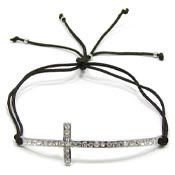 Clear Cross Adjustable Bracelet