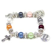 Serenity Prayer With Pearls Bracelet