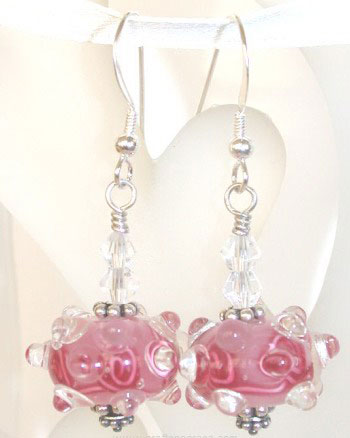 Dew Kissed Rose Earrings
