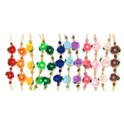 Rainbow Of Roses Bracelet or Anklet Pick Your Color