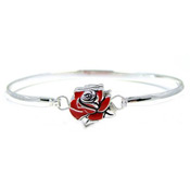 Red Rose Bangle Bracelet