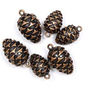 Metal Pine Cone Charms