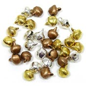 6mm Jingle Bells In Silver Gold And Copper