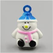 Blue And Pink Snowman Bell