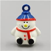 Blue And Red Snowman Bell