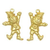 Leaping Leprechaun Charms Brass