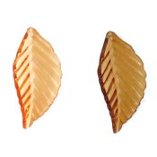 Transparent Orange Or Brown Pointed Leaf Charms