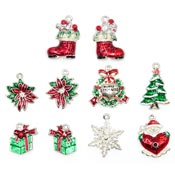 Deluxe Enamel Christmas Charms Limited Stock