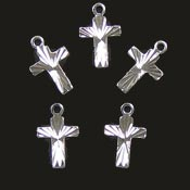 Diamond Cut Cross Charm