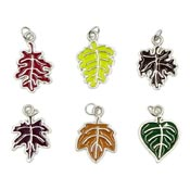 Enamel Leaf Charms In Six Fall Colors