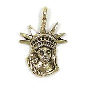 Statue Of Liberty Charm Gold Plated