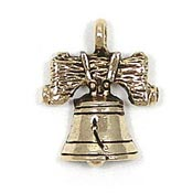 Liberty Bell Charm Gold Plated
