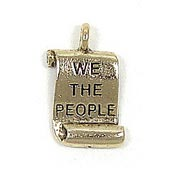 Constitution Charm Gold Plated
