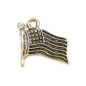 Flag Charm Gold Plated