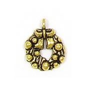 Gold Wreath Charm