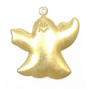 Large Ghost Charm Brass